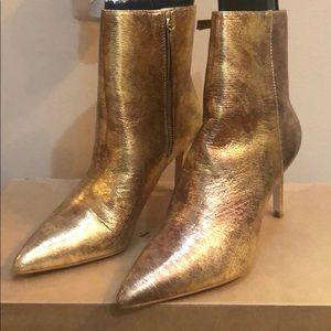 Zara gold booties